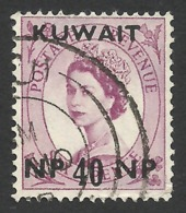 Kuwait, 40 Np. On 6 P. 1957, Sc # 137, Mi # 127, Used - Kuwait