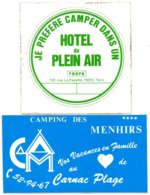 Lot Autocollant CAMPINGS - Stickers