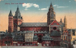 Cartolina Mainz Dom Vom Westen Illustrata - Cartoline