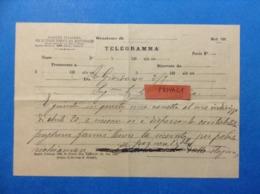 TELEGRAMMA MOD 192 SOCIETA' ITALIANA PER LE STRADE FERRATE DEL MEDITERRANEO - Biglietti Di Trasporto