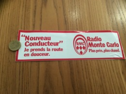 AUTOCOLLANT, Sticker « Nouveau Conducteur - RMC - Radio Monte Carlo» - Autocollants