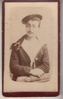 Petite Photo Sur Carton  - Photographie Bordelaise  Henry  D'un Marin - Bordeaux