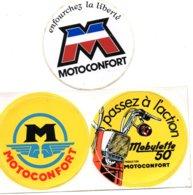 Lot Autocollant MOBYLETTE MOTOCONFORT - Autocollants