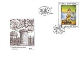 FDC 826 Czech Republic Dali's Leda Atomica 2014 Mythology Leda And The Swan - Moderne