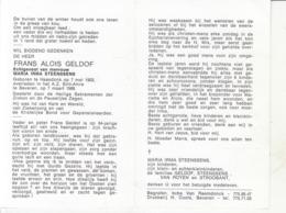 Frans Aloïs Geldof (1903-1988) - Images Religieuses