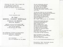 Marcel Evarist Goethals (1906-1982) - Images Religieuses