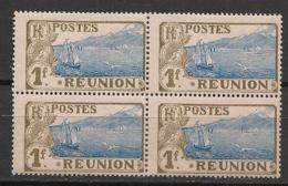 Réunion - 1907 - N°Yv. 69 - Sainte Rose 1fr - Bloc De 4 - Neuf Luxe ** / MNH / Postfrisch - Ongebruikt