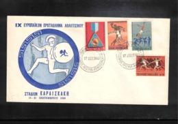 Greece 1969 Athens Europa Athletics Championship FDC - Leichtathletik