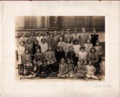 Grande Photo Originale Scolaire Signée - Photo De Classe De Sixième En 1929 Par J. David & Vallois - Paris - Personnes Identifiées