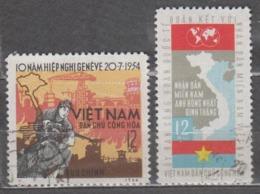 Vietnam 1964 Mi# 325-326 Geneva Agreements  Used - Vietnam