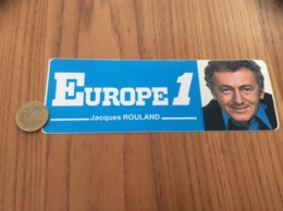 AUTOCOLLANT, Sticker «EUROPE 1 C'est Naturel - Jacques ROULAND » (radio) - Autocollants