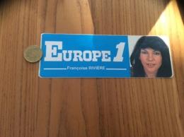 AUTOCOLLANT, Sticker «EUROPE 1 C'est Naturel - Françoise RIVIÈRE » (radio) - Autocollants