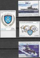 GREECE, 2019, MNH,  GREEK COAST GUARD, HELICOPTERS, SHIPS, ANCHORS, NAVY,  4v - Ships