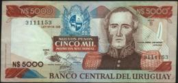 URUGUAY - 5.000 Nuevos Pesos Nd.(1983) {series B} VF+ P.65 A(2) - Hungary