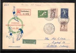 Sweden 1953 Sports Association - Hockey FDC - Jockey (sobre Hielo)