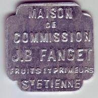 Monnaie De Nécessité - LOIRE 42 - St Etienne - Maison De Commission J.B Fanget - 5F - Monétaires / De Nécessité