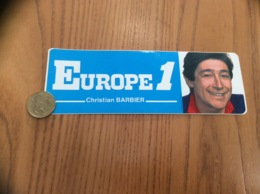 AUTOCOLLANT, Sticker «EUROPE 1 - Christian BARBIER » (radio) - Autocollants
