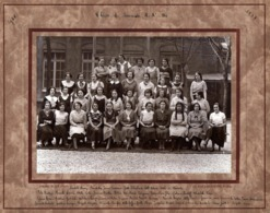 Grande Photo Originale Scolaire Lycée Lamartine à Paris - Classe De Seconde Id. En 1932-1933 - Photo Pierre Petit Paris - Personnes Identifiées
