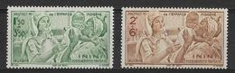 Inini 1942 - Protection De L'enfance Indigène - PA  Y&T - N° 1/2 ** P A -  Neufs Luxe (T.B.) - Inini (1932-1947)