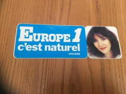 AUTOCOLLANT, Sticker «EUROPE 1 C'est Naturel - VIVIANE » (radio) - Autocollants