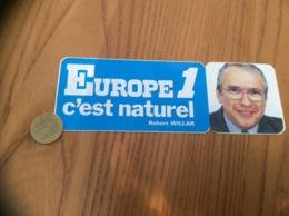 AUTOCOLLANT, Sticker «EUROPE 1 C'est Naturel - Robert WILLAR » (radio) - Autocollants