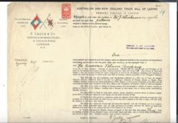 CONNAISSEMENT  Bill Of Lading Australian And New Zealand Trade F. Green & Co  London - Sydney Yallaroi 1895 - Ver. Königreich