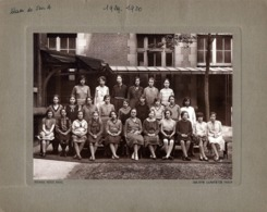 Grande Photo Originale Scolaire Lycée Lamartine à Paris - Classe De 5 ème A En 1929-1930 - Photo Pierre Petit Paris - Identified Persons