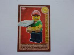 Carte LEGO AUCHAN CREE TON MONDE N°62 Livreur De Pizzas Pizza - Autres Collections