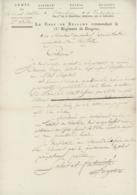 Renchen An 6 - 30.9.1797 Armée Du Rhin Et Moselle Le Chef De Brigade Commandant Le 13e Régiment De Dragons - Documents Historiques
