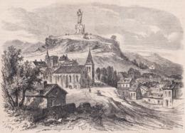 63. MONTON. Vue Générale Avec Le Monument à La Vierge. 1866 - Vieux Papiers