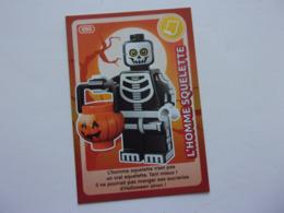 Carte LEGO AUCHAN CREE TON MONDE N°90 L'homme Squelette - Autres Collections