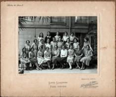 Grande Photo Originale Scolaire Lycée Lamartine à Paris - Classe De 4 ème A En 1930-1931 - Photo H. Tourte & Petitin - Identified Persons