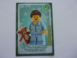 Carte LEGO AUCHAN CREE TON MONDE N°10 Le Dormeur Ours En Peluche Teddybär Teddy Bear - Autres Collections