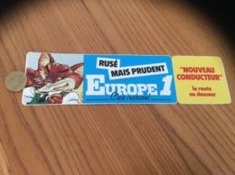 AUTOCOLLANT, Sticker «EUROPE 1 - RUSÉ MAIS PRUDENT» (radio, Renard) - Autocollants