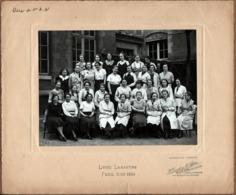 Grande Photo Originale Scolaire Lycée Lamartine à Paris, Classe De Première AA1 En 1933-1934 - Photo H. Tourte & Petitin - Personnes Identifiées