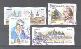 France Oblitérés : Dinan Dinant - Château De Chambord - N°5268 & N°5283 (cachet Rond) - France