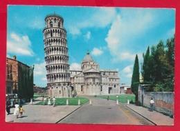 CARTOLINA VG ITALIA - PISA - Torre Pendente E Abside Del Duomo - PUBBLICITARIA ALITALIA AIRLINES - 10 X 15 - 1962 STRA - Pisa