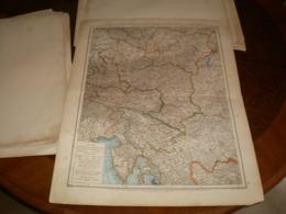 Nieder Und Ober Osterreich Steiermark Karnten Krain Und Kustenlan Volks Und Familien Atlas A Shobel Leipzig 1901 Big Map - Geographical Maps