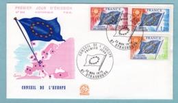 FDC France 1975 - Conseil De L'Europe 1975 - YT 46 - 47 & 48 - 67 Strasbourg - FDC