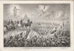 Rare Cpa La France Le Soldat Du Christ - 1914-18