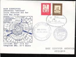 AANT-280 ANTARCTICA ANTARCTIC 1990 URUGUAY EXPEDITION STATION ARTIGAS COVER - Expéditions Antarctiques