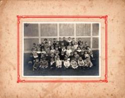Grande Photo Originale Scolaire - Photo De Classe - Groupe D'écoliers Tous Petits Vers 1910/20 à Identifier - Maternelle - Personnes Anonymes