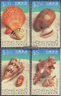 Hong Kong 830-833 (complete Issue) Unmounted Mint / Never Hinged 1997 Mussels And Snails - Unused Stamps