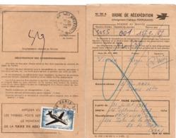 Ordre De Réexpédition - Paris 1967 - Avec Caravelle 5F SSL Seul- Scan Recto-verso - Storia Postale