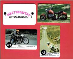 4 CARTES THEME MOTO BIKETOBERFEST DAYTONA FLORIDE 1995 BOSS HOSS CYCLE DYERSBURG U.S.A. PHONECARD OF ISLE OF MAN - Motor Bikes