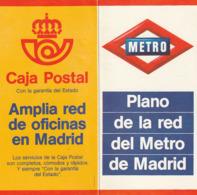 GUIA DEL METRO CARTE GUIDE PLAN  - PLANO RED METRO MADRI - 1981 - Otros