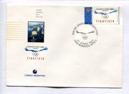 BUENOS AIRESM CANDIDATA - FINALISTA. OLYMPIC GAMES 2004. ARGENTINA 1997 ENVELOPE FDC PRIMER DIA -LILHU - Juegos Olímpicos