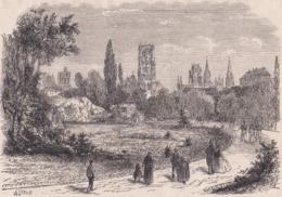 76. ROUEN. Embellissement De La Ville. Le Square Solferino. 1866 - Vieux Papiers