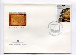 RUINAS JESUITICAS SAN IGNACIO MINI - MERCOSUR. ARGENTINA 1998 ENVELOPE FDC PRIMER DIA -LILHU - Arqueología