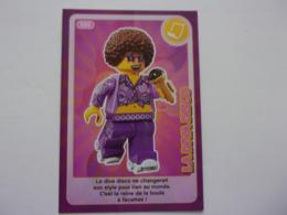 Carte LEGO AUCHAN CREE TON MONDE N°50 La Diva Disco Musique Micro Chanteuse - Autres Collections